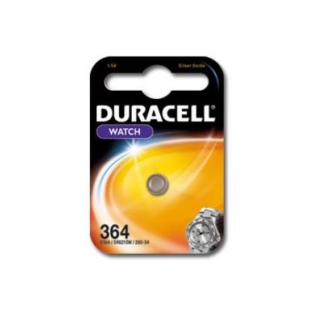Pile de montre Duracell 364  SR621SW Blister unitaire