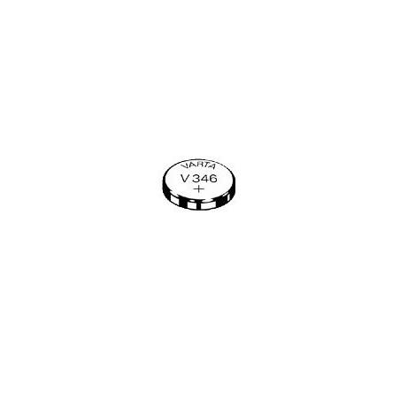V346 - pile de Montre  Varta oxyde d'argent  - 346 101 111 - unitaire / boite de 10