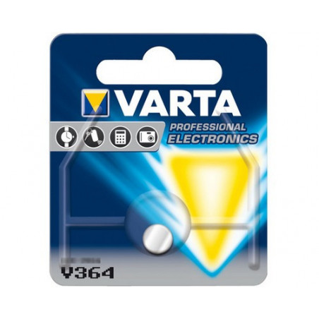 Pile de Montre  Varta oxyde d'argent SR58 - 364 Blister - unitaire / boite de 10