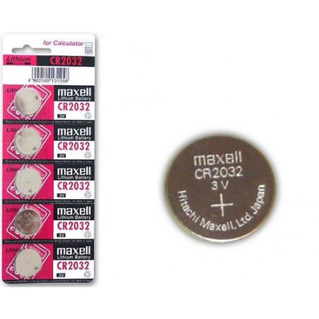 (Pack) Pile Lithium CR2032 Maxell Unitaire/Carte de 5