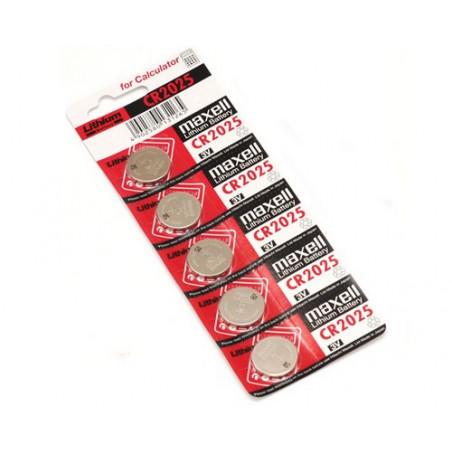 (Pack) Pile Lithium CR2025 Maxell Unitaire/Carte de 5