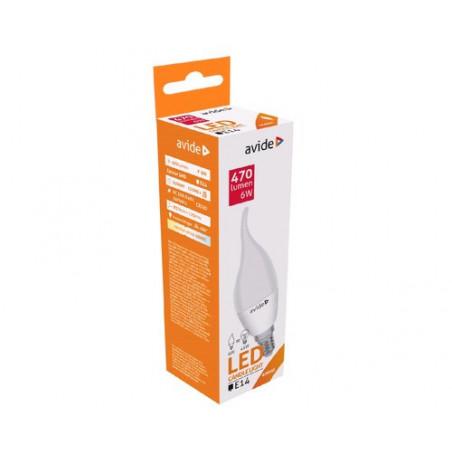 Ampoule AVIDE LED BOUGIE Flamme -  E14 - 6W - 470Lm - 4000/4500K - 288269