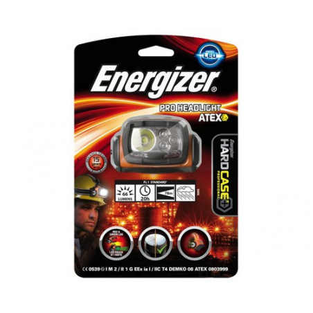 Torche Frontale Energizer ATEX Zone 0 - 4 LED - 3xAA non incluses 632026