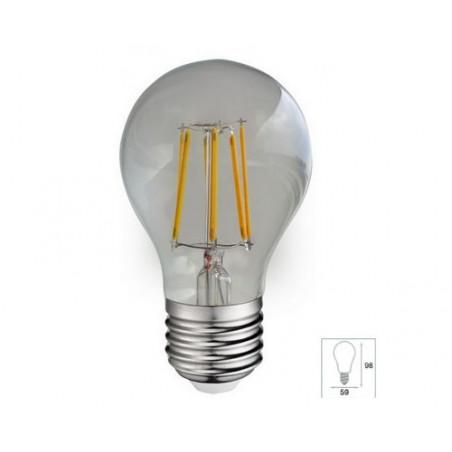 Ampoule LED COB Filament E27 Bulb G60  - 6W Claire -2700K - Vision EL 7139