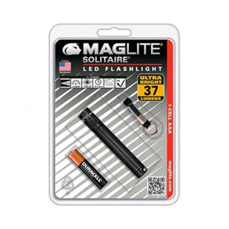 Torche MagLED Solitaire 1LR03 Noire en Blister + dragonne
