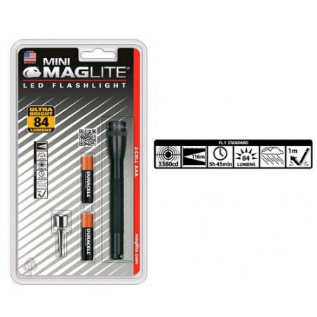 Torche MAGLED Super Mini 2xAAA incl noir Blister + clip stylo