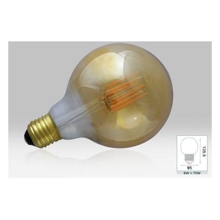 Ampoule LED COB Filament E27 4000K Globe G95 - 8W - Golden Bte - 7153