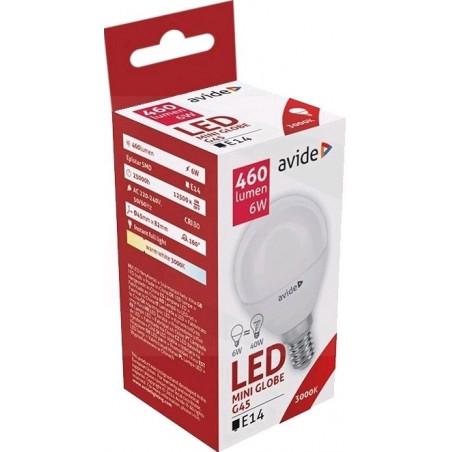 Ampoule AVIDE LED Mini Globe E14 - G45 - 6W - 3000K- 285220