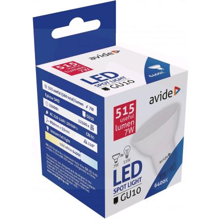 Ampoule AVIDE LED Spot Plas GU10 7W - 110° 6400K - 515Lm - 288702