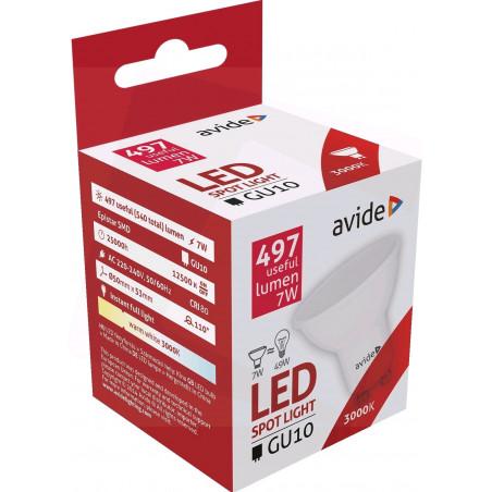 Ampoule AVIDE LED Spot Plas GU10 7W - 110° - 497lm - 3000K - 288665