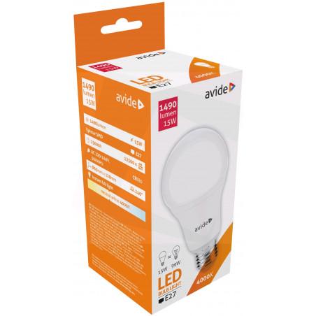 Ampoule AVIDE LED Globe PLAS G60 E27 - 15W - 1350lm -  ALAB285411