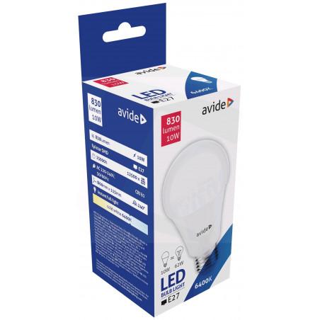 Ampoule AVIDE LED Globe PLAS G60 E27 - 10W - 830lm - 6400K - 289105