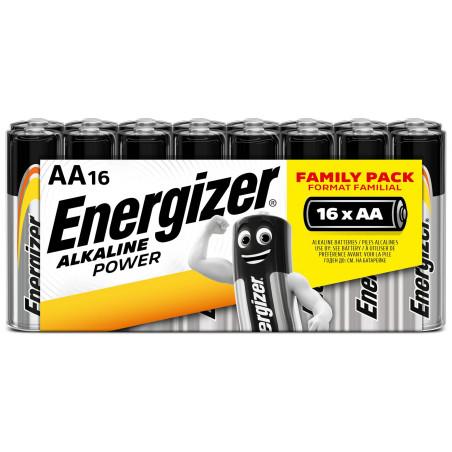 Pile Alcaline  Energizer LR06 Alka Power (ex basic)  - Pack de 16