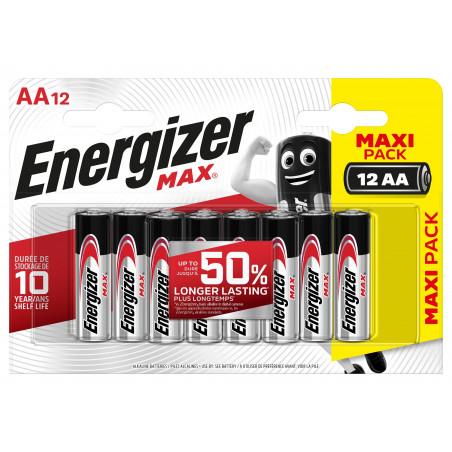 Pile Alcaline  Energizer LR06 Max (ex Ultra +)  - Blister de 12
