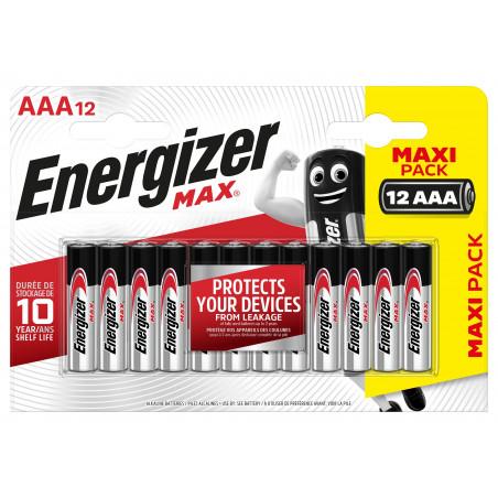 Pile Alcaline  Energizer LR03 Max (ex Ultra +)  - Blister de 12