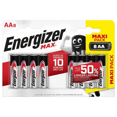 Pile Alcaline  Energizer LR06 Max (ex-Ultra +)  - Blister de 8