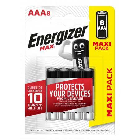 Pile Alcaline  Energizer LR03 Max (ex-Ultra +)  - Blister de 8