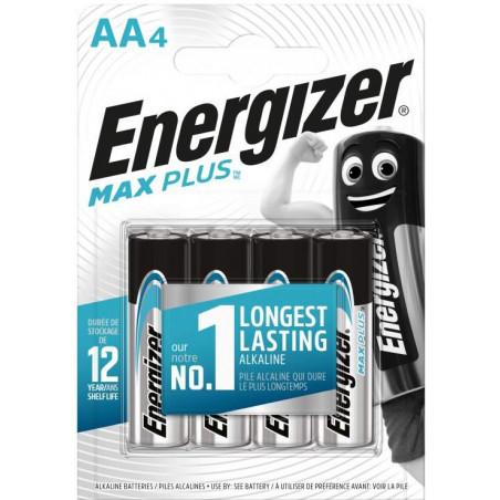 Pile Alcaline  Energizer LR06 MAX PLUS (ex Eco Advenced)  - Blister de 4