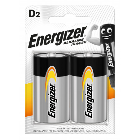 Pile Alcaline Energizer LR20 Alkaline Power (ex-Basic)- Blister de 2