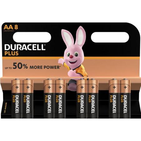Pile alcaline LR06 MN1500 Duracell PLUS Power blister de 8