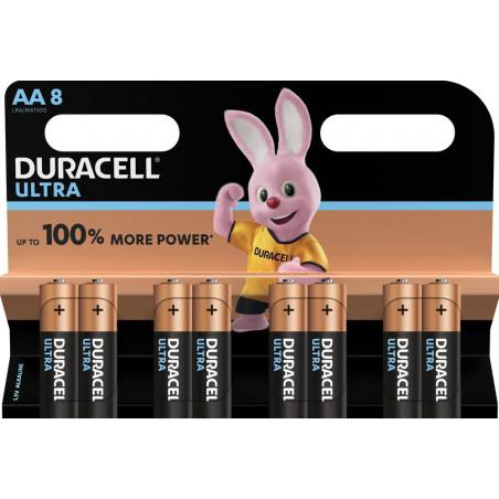 Pile alcaline LR06MN1500 Duracell Ultra Power blister de 8
