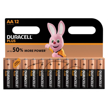 Pile alcaline LR06 MN1500 Duracell PLUS Power blister de 12