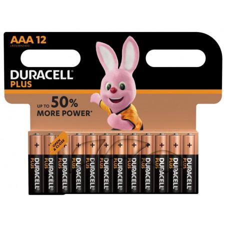 Pile alcaline LR03 MN2400 Duracell PLUS Power blister de 12