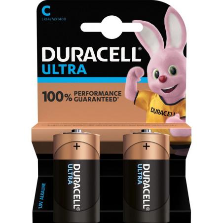 Pile alcaline LR14 MN1400 Duracell Ultra Power blister de 2