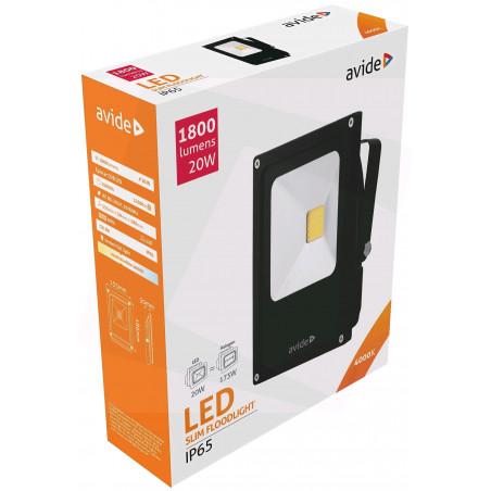 Projecteur SLIM -20W LED Avide Flood Light 120° 4000K 1800LM PRLAB284360S