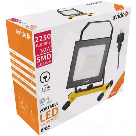 Projecteur AVIDE LED filaire 30W - 2100Lm - PRLAB919348P