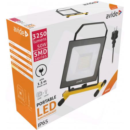 Projecteur AVIDE LED filaire 50W - 3400Lm - PRLAB919744P