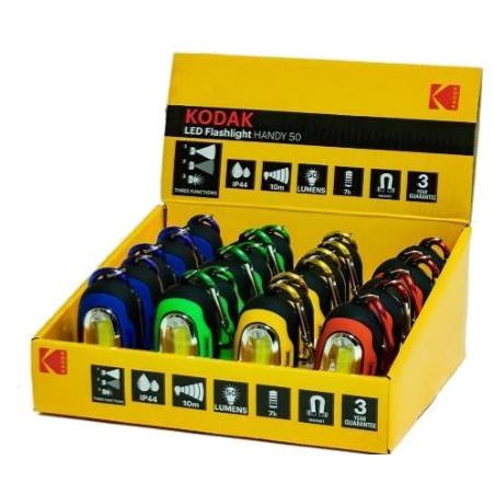 Présentoir torche Kodak LED Mousqueton 1W - 50Lm - 2xCR2032 incl