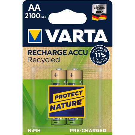 HR6 - Accu AA 2100mAh RECYCLED Ready 2 Use - blister de 2 - 56816 101 402
