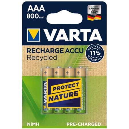 HR3 - Accu AAA 800mAh RECYCLED Ready 2 Use blister de 4 - 56813 101 404