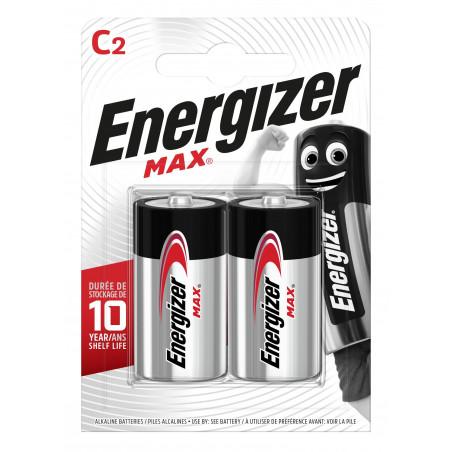 Pile Alcaline Energizer LR14 Max (ex-Ultra+) - Blister de 2