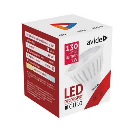 Ampoule AVIDE LED Spot Plas GU10 - 2W - 110° - 130lm - 282205 C