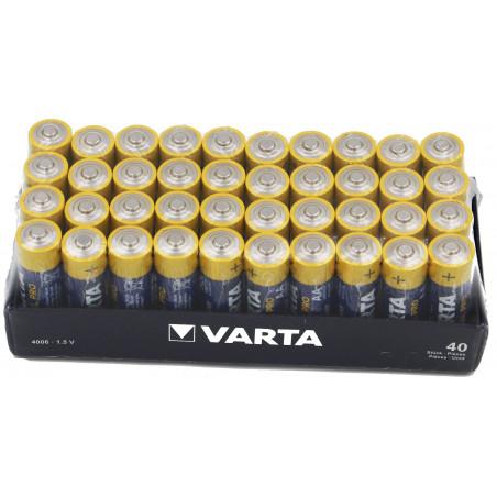 (Pack) Pile Varta industrielle AA- 4006 211 354 - shrink de 4 piles par plateau de 10 soit 40 piles