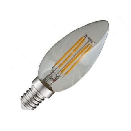 LED COB Filament E14 Flamme - 4W  4000K 440 lm Claire - Vision EL