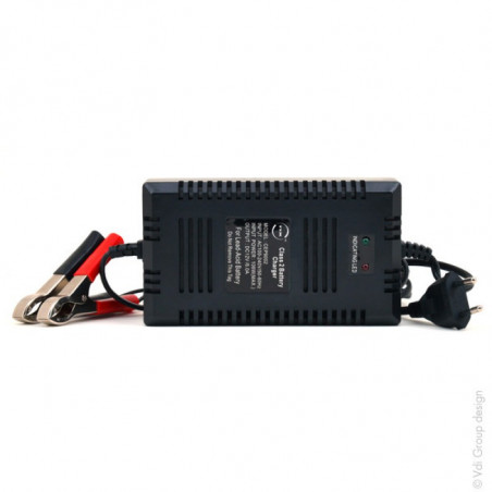 Chargeur plomb 12V/6A 110-230V - pinces crocodiles (Intelligent)