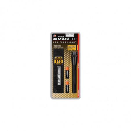 Mini Mag-Led  en Blister Noir 2 piles AA incluses - SP2201H + Holster