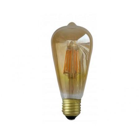 Ampoule LED COB Filament E27 4000K ST64 - 8W - 1050 lm Golden - 7160