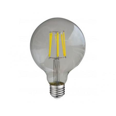Ampoule LED COB Filament E27 6000K Globe G95 - 8W 880 lm Claire - 7150