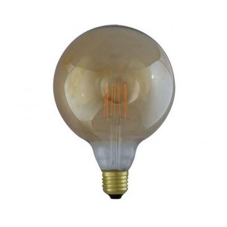Ampoule LED COB Filament E27 2700K Globe G125 - 8W - 1050lm  Golden - 7157