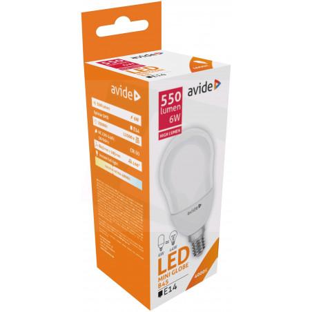 Ampoule AVIDE LED Mini Globe E14 - B45 - 6W - 470lm - 4000/4500K - 285282