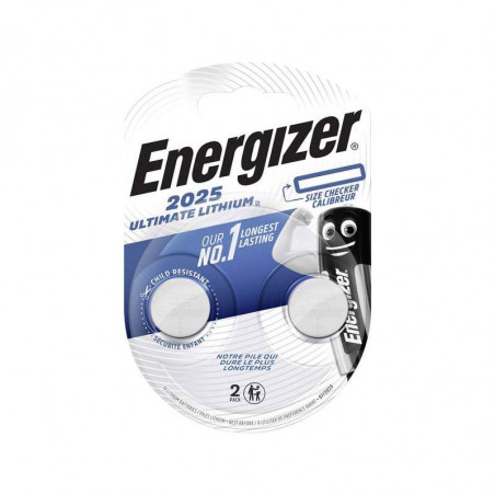 Pile electronique CR2025 ULTIMATE Energizer blister de 2
