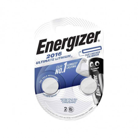 Pile electronique CR2016 ULTIMATE Energizer blister de 2