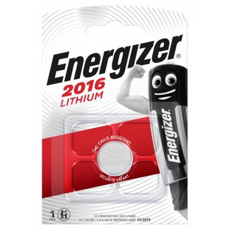 Pile electronique CR2016 Energizer blister de 1
