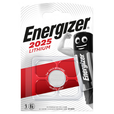 Pile electronique CR2025 Energizer blister de 1
