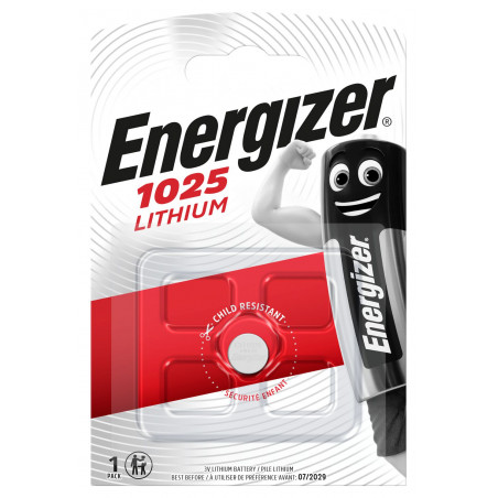 Pile electronique CR1025 Energizer- blister unitaire