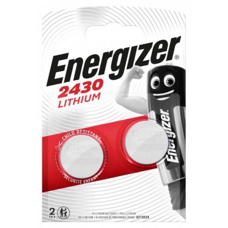 Pile bouton lithium CR2430 Energizer Blister de 2